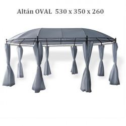 Altánok Oval 530x350 cm Grau