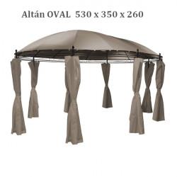 Altánok Oval 530x350 cm Taupe