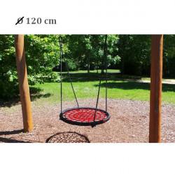 Kruhová hojdačka XXL 120 cm - červená