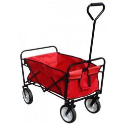 Skladací vozík - kára červená