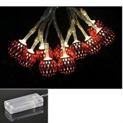 LED - červené gule 10 ks