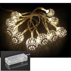 LED - strieborné gule 10 ks