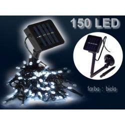 LED solárna reťaz 150 LED biela