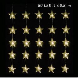 LED hviezdy závas 80 LED