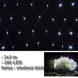 LED svetelná sieť 3x3 m - Studená biela