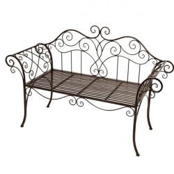 Železná lavica Antik - braun