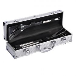 Grilovací set v kufríku 4 dielny