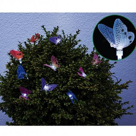 Led solárna reťaz - motýľ 10 led