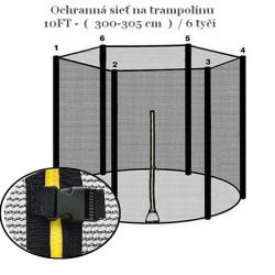 Ochranná sieť k trampolíne 300 cm - 6 tyčí