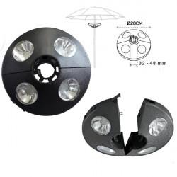 LED svetlo na slnečník ø 20 cm