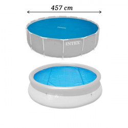 Solárna Plachta na bazén 457 cm - modrá