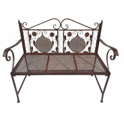 Záhradná železná lavica Antik - Braun