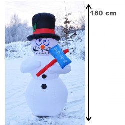 Nafukovací Snehuliak 180 cm + pumpa