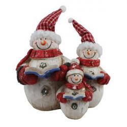 Snehuliak s rodinou 32 cm