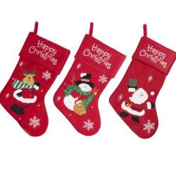 Mikulášska čižma 40 cm Happy Christmas