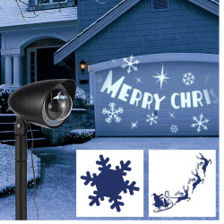 LED vianočný projektor - 3 motívy