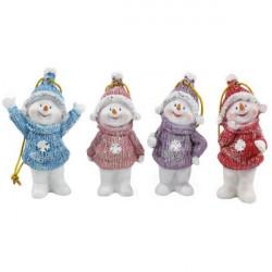 Vianočná ozdoba Snehuliak 8 cm