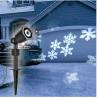 LED vianočný projektor - vločky
