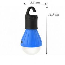 LED lampa Turistická - modrá