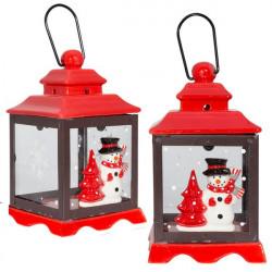 Vianočný svietnik - Snehuliak 18 cm