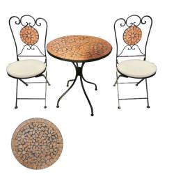 Záhradný set Bistro Keramik Rund