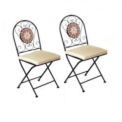Záhradné stoličky set Mosaik 2 ks