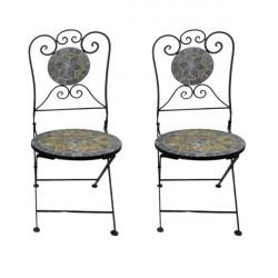 Záhradné stoličky set Mosaik GRAU 2 ks