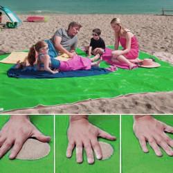 Plážová deka - Sand Free - zelená
