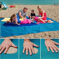 Plážová deka - Sand Free - modrá