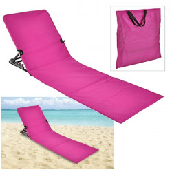 Plážové lehátko skladacie - ružové