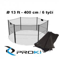 Ochranná sieť na trampolínu 400 cm - 6 tyčí