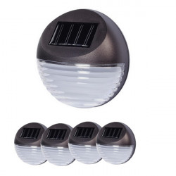 LED solárne svetlo na plot - 4 ks