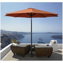 Záhradný slnečník 300 cm - terracotta UV 50+