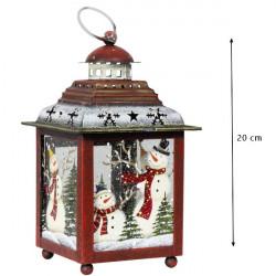 Lampáš vianočný 20 cm - kovový