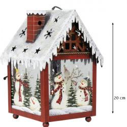 Vianočný Lampáš - Domček 20 cm