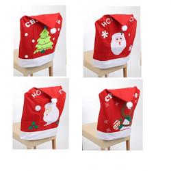 Vianočný návlek na stoličku 4 ks - set