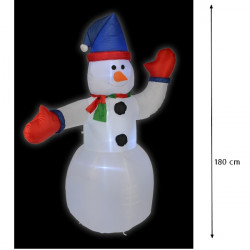 Nafukovací Snehuliak 180 cm s LED