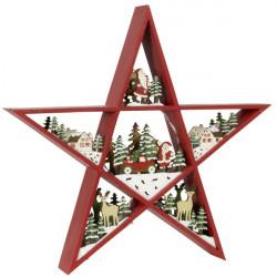 Vianočná hviezda 30 cm s Led osvetlením